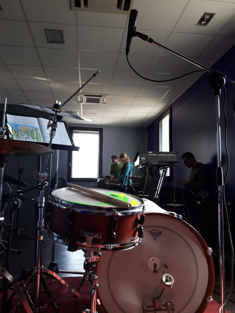 The view from behind the drums.
